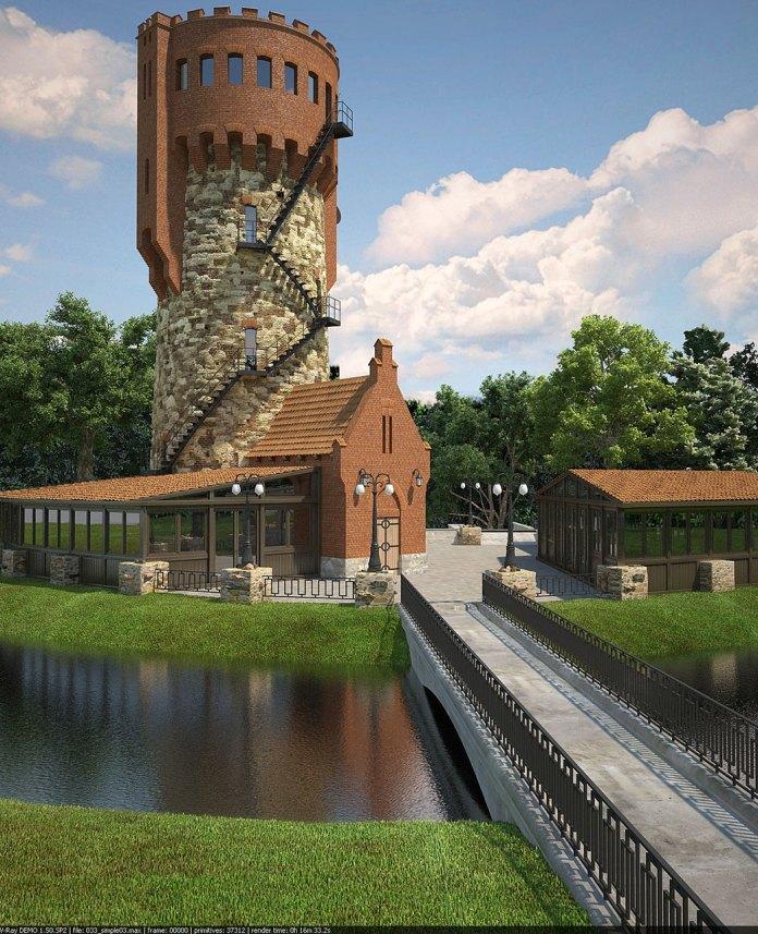 Проект відновлення закинутого ресторану ВЕЖА у Стрийському парку (проект - dzimkadesign)