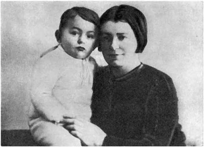 Ірина Вільде із сином Яремою. 30-і рр.