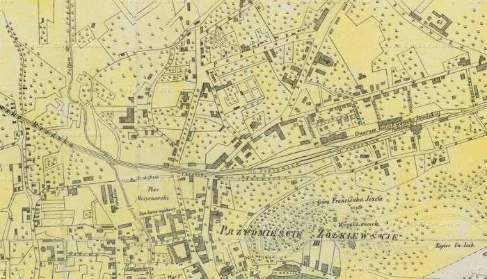 Вулиця Замарстинівська на плані Львова 1871 року