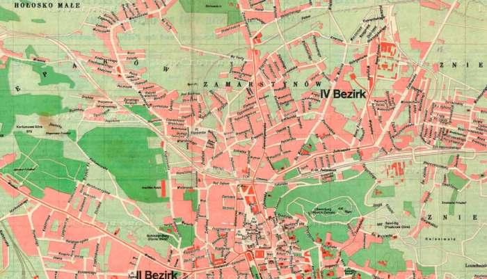 Замарстинів на карті Львова 1941 року