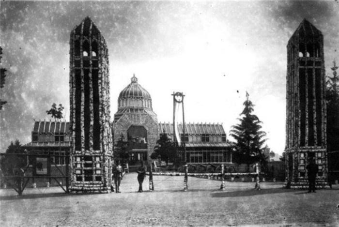 Головний вхід до Військової виставки у Стрийському парку. Фото 1916-1918 рр.