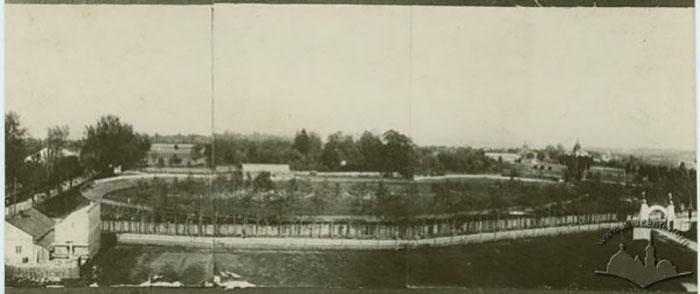Територія майбутнього стадіону «Український город» перед Першою Світовою війною.