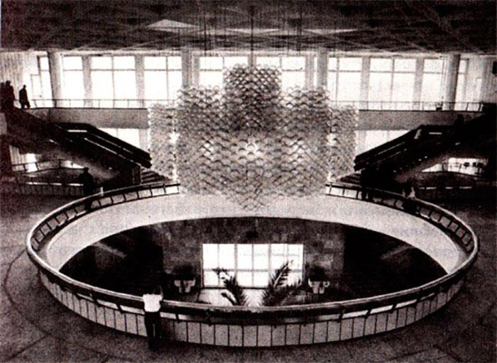 Львів. Інтер'єр головного автовокзалу. Фото 1980 року