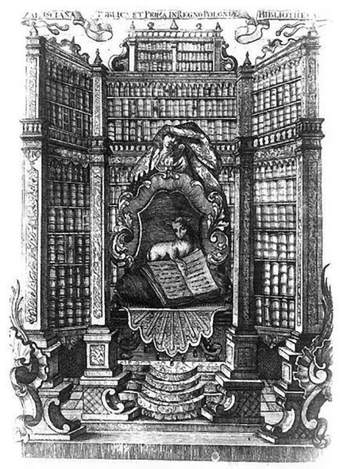 Екслібрис Яна Філіповича для бібліотеки Залуських