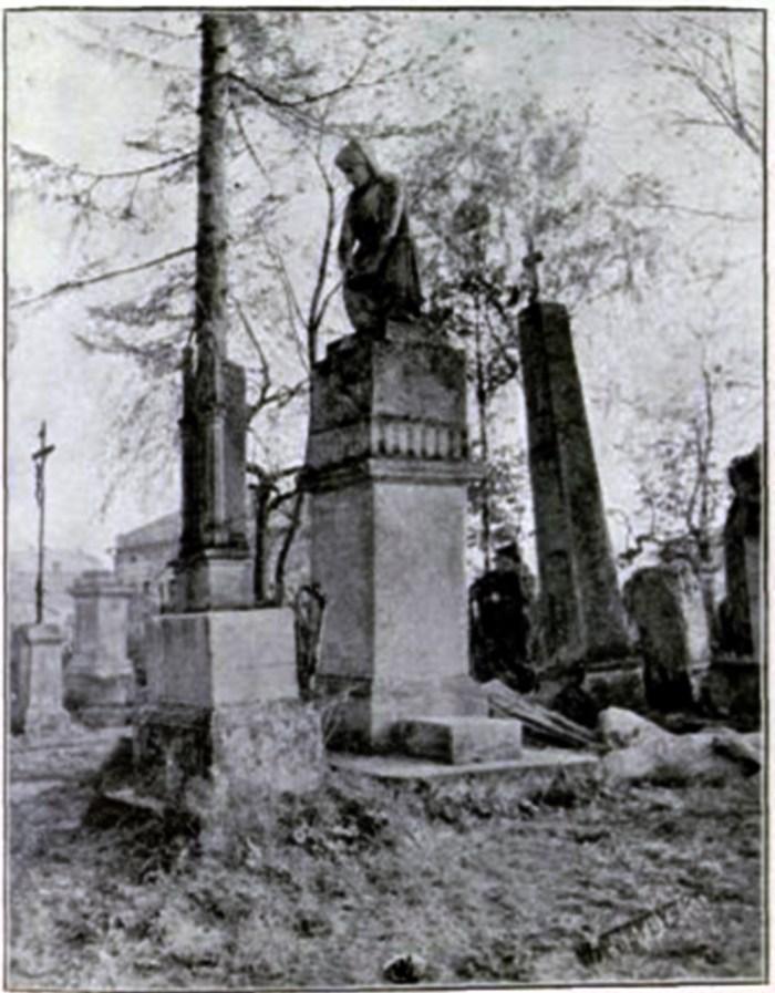 Надгробок Яна Махана на Городоцькому кладовищі у Львові. Фото 1908