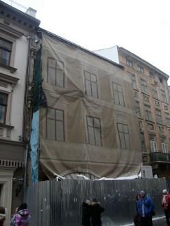 Будинки по Шевській, 12, 14, 16, січень 2016- го р. Фото автора.