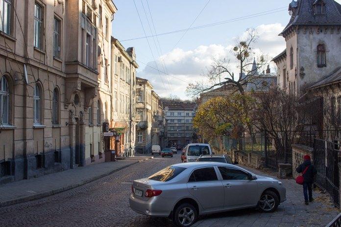 Вулиця Михайла Вербицького у Львові, фото 2015 року.