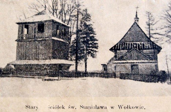 Костел Св. Станіслава у Вовкові, фото до 1924 року