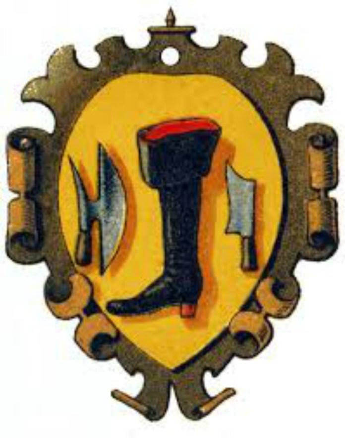 Герб цеху шевців у деяких з німецьких міст. Фото з http://photo-lviv.in.ua
