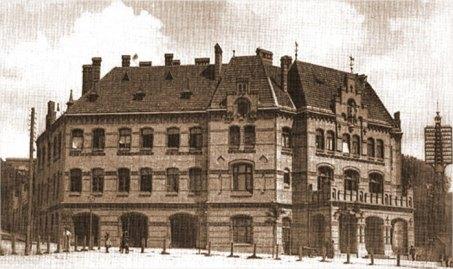 Центральна пожежна станція у Львові, фото початку XXст.