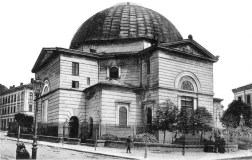 Синагога Темпль на почаку ХХ ст. Фото 1900-1910 рр.