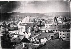 Синагога Темпль на пл.Старий Ринок. Фото 1862 року