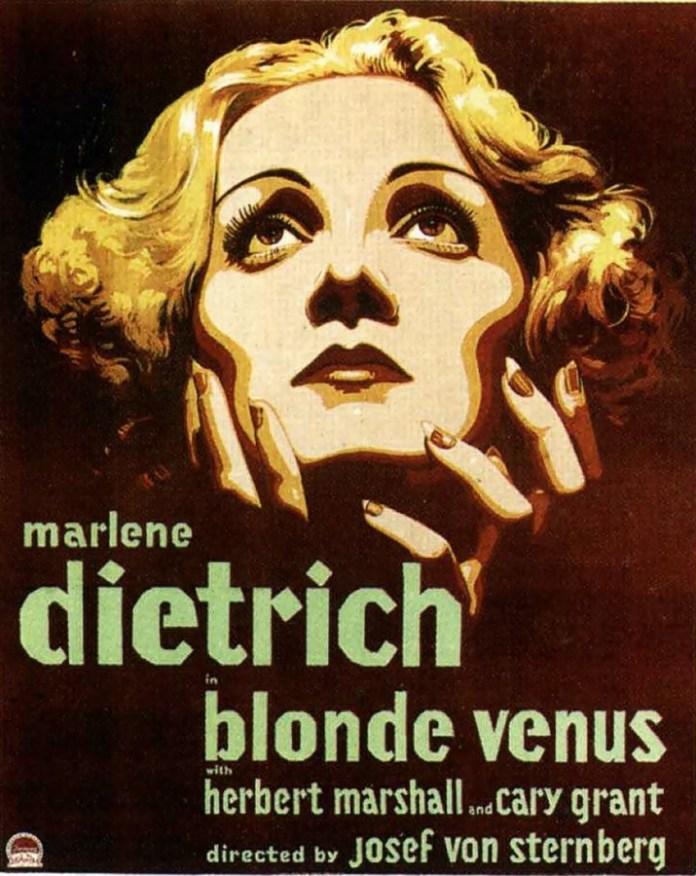 Постер фільму 1932 р. «Blond Venus» («Білява Венера») із Марлен Дітріх у головній ролі