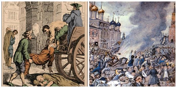 Чума в Лондоні у 1665 і Москві у 1771