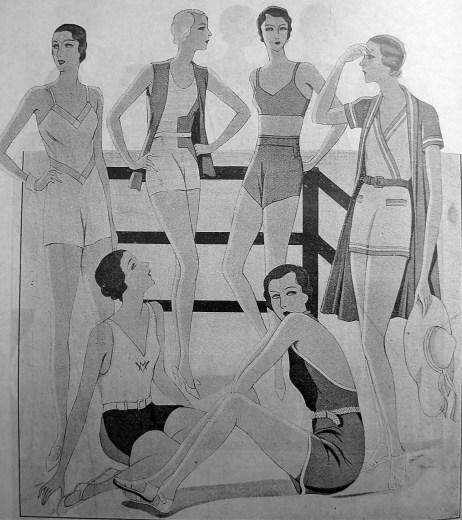 Зразки купальних і пляжних костюмів («Нова Хата, 1932)