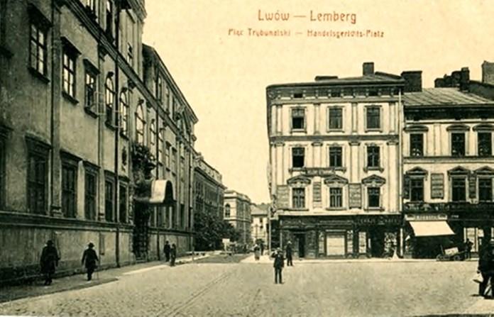 Вулиця Трибунальська, сучасна Шевська, тут працювала книжкова крамниця Генриха Калленбаха