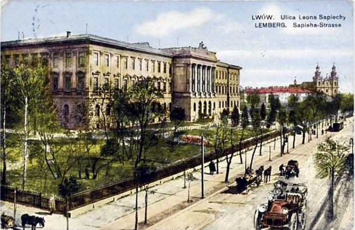 Будинок Львівської Політехніки, листівка 1920 року