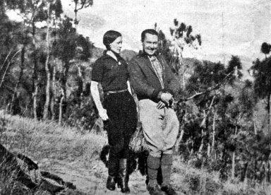 С. Яблонська разом із чоловіком Жаном Уденом в Юньнані (Китай), середина 1930-х рр.