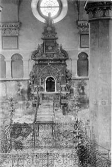 Інтер'єр Великої передміської синагоги. Фото 1941 року