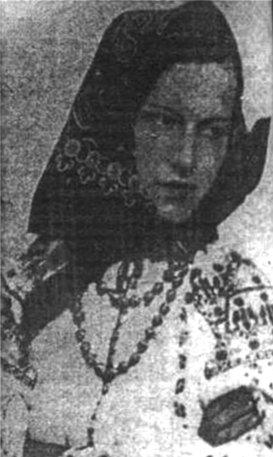 Софія Яблонська в національному вбранні, Львів, 1935 р.