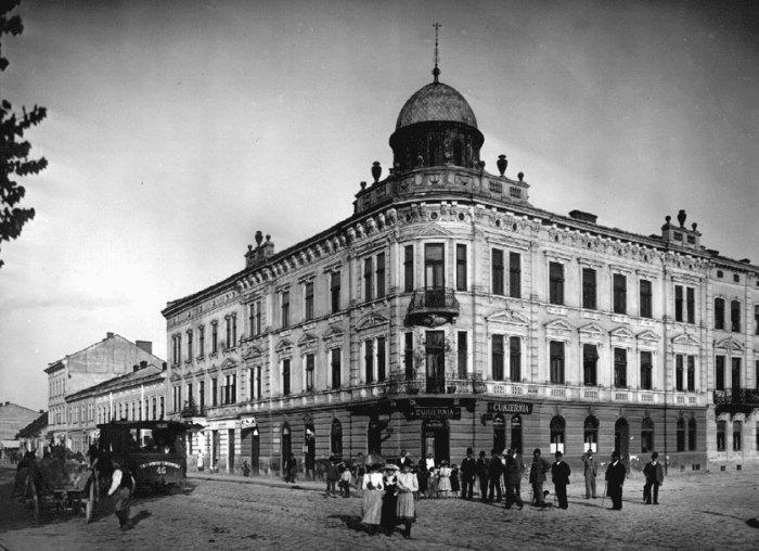 Місце розташування старої Городоцької рогатки. Фото 1896 року