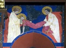 Поховання св. Катерини Олександрійської (фреска у Вірменському соборі)