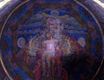 """Мозаїка """"Трійця"""" у Вірменській церкві"""