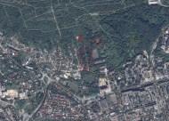 Розташування Замарстинівських кладовищ: 1) польський цвинтар; 2) цвинтар німецьких військовополонених; 3) поховання жертв НКВС
