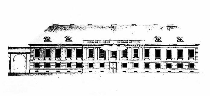 Проект палацу 1822 р., архітектор Ігнатій Хамбрез