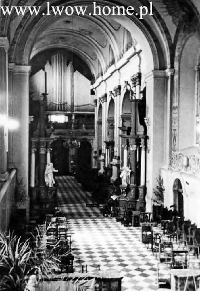 Фото органу із костелу святої Марії Магдалини, приблизно 1903 р.