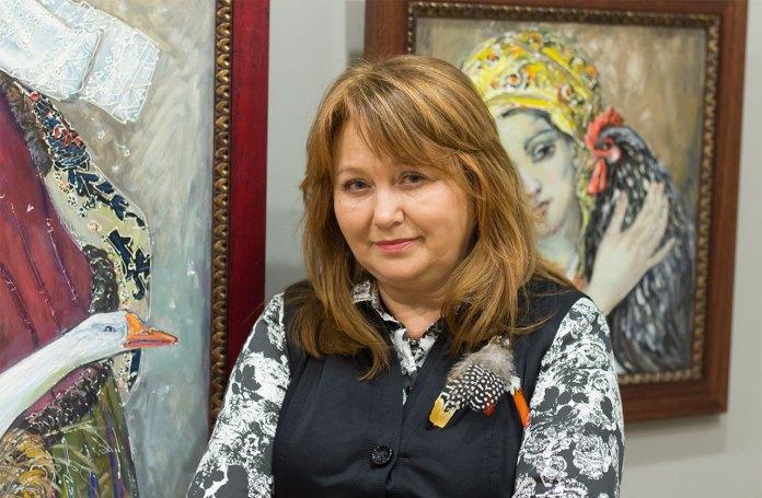 Ірина Фартух на відкритті виставки «Синя птаха»
