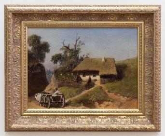 """Тарас Шевченко (?) """"Село (Хата і віз з волами)"""", 1840 (?)"""