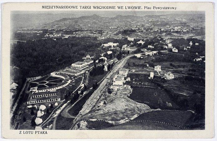 Східні Торги в Стрийському парку - вид зверху. Фото 1922 року