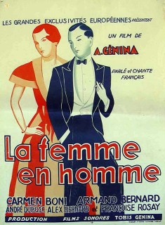 Постер до фільму «La Femme en homme» (1931) (зі сайту http://www.ebay.com)