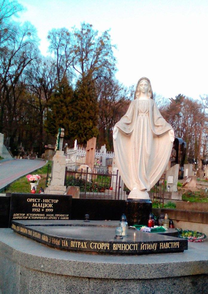 Могила Ореста-Нестора Мацюка на Личаківському кладовищі. Фото: Анастасія Патер