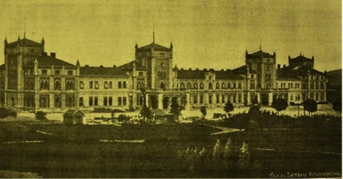 Будівля першого львівського Головного вокзалу, збудованого у 1859-1861рр.