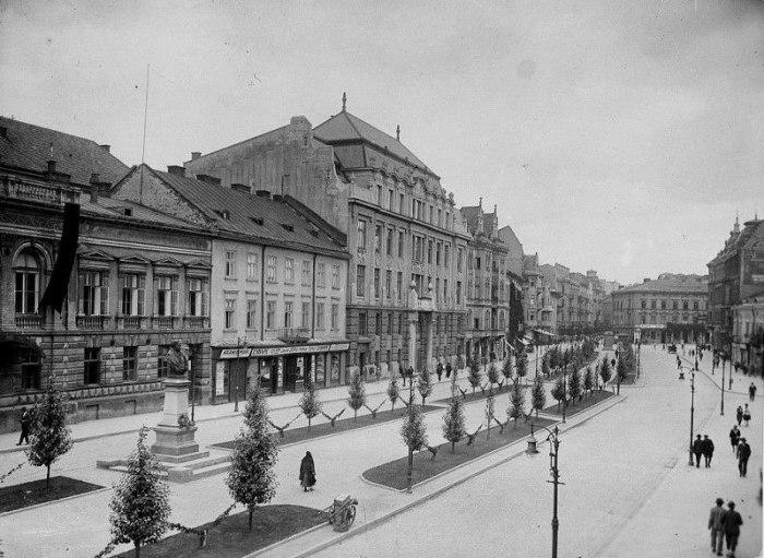 Алея проспекту Шевченка в міжвоєнний період. Фото 1922-1932 рр.