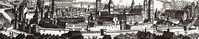 Третій оборонний мур на фрагменті панорами Пернера 1772 р.