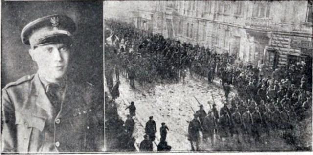 Едмунд Грейвс та похоронна процесія під час його похоронів. Фото 1919 року