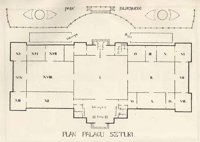 План 15 залів палацу мистетв