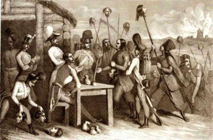 Ілюстрація селянсько-шляхетського протистояння в 1846 році. Фото з https://en.wikipedia.org