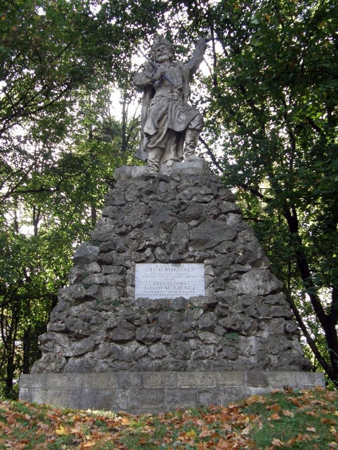 Пам'ятник Войцеху Бартошу Гловацькому на Личаківській. Сучасне фото