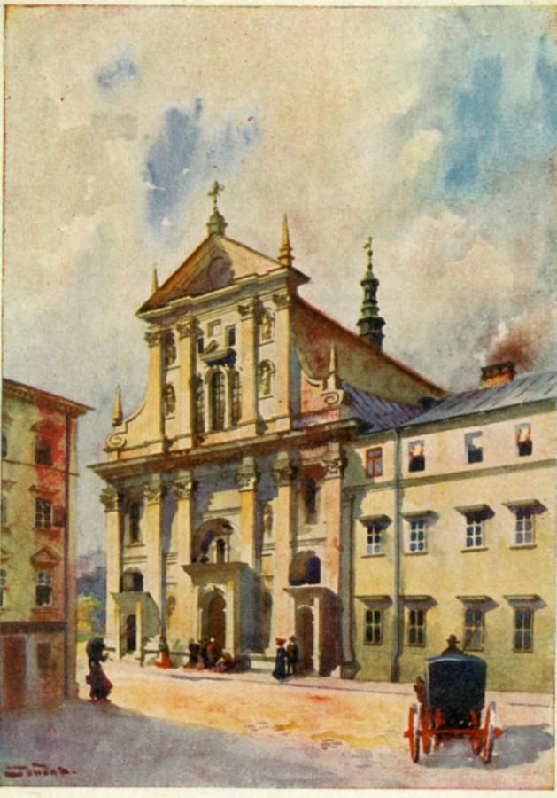 Костел єзуїтів на поштівці. Фото з poshtivka.com