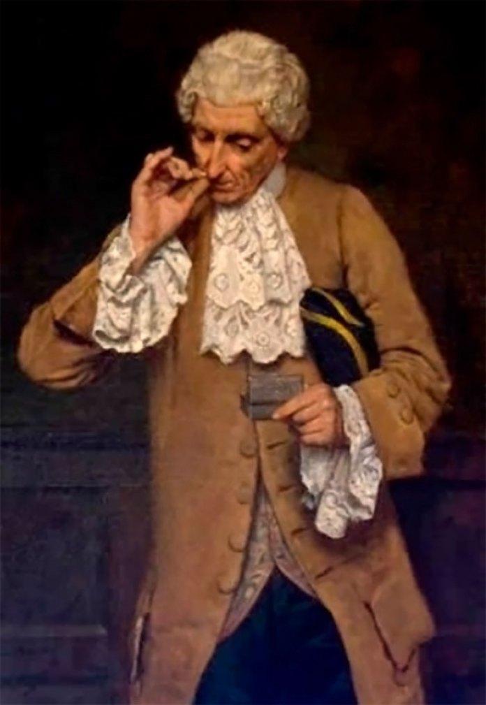 Чоловік з нюхальним тютюном. Фото: https://uk.wikipedia.org