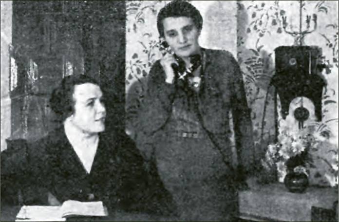 Управління кооперативу «Українське Народне Мистецтво»: Директор Ірина Макух-Павликовська, інженер Стефанія Чижович. 1934 р.