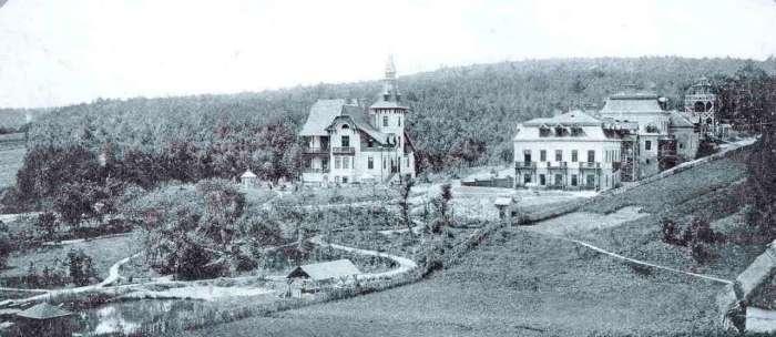 """Лікувальний курорт """"Маріївка"""" на місці Винниківського озера. Фото кін. 19 ст."""