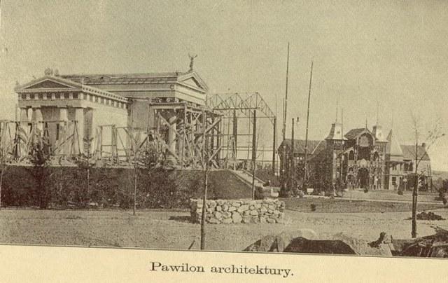 Спорудження палацу Архітектури та Мавзолею Матейка. Фото 1893-1894 рр.
