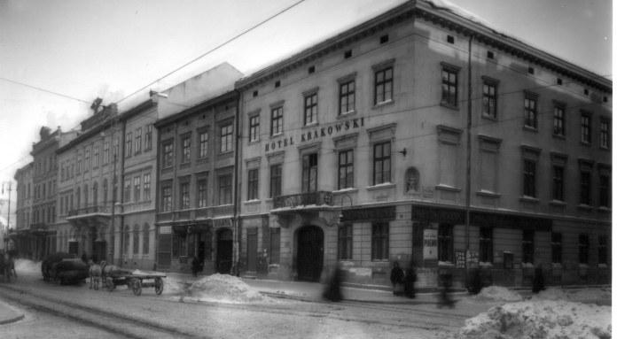 """Готель """"Краківський. Фото кінця 19 - поч. 20 ст."""