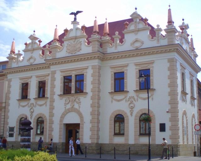 Будівля польського Сокола у Ряшеві - одна із перших знаних робіт Ф.Сковрона