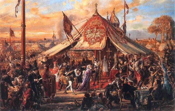 Ян Матейко. Вибори короля в 1573 році. Фото з www.epodreczniki.pl